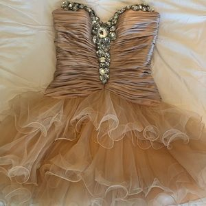 Sherri Hill nude homecoming dress